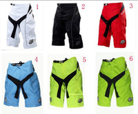 Wholesale Troy lee designs TLD Moto Shorts Bicycle Cycling MTB BMX DOWNHILL Offroad Short PantS fluo yellow High Quality with Pad