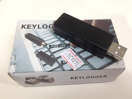 Wholesale SPY USB KEYLOGGER bug Key Logger Computer USB Keyboard Interface Hardware Input Information Recorder Computer Keyboard Recording