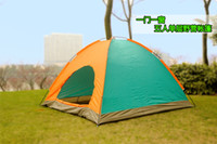 Backpacking Tents camping tent - Multiple Persons Outdoor Camping Tents T Polyester Coated Waterproof Casual Camping Tent Single Layer Sport Hiking Camp Tents Shelter