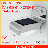 Wholesale Solar Power Motion Sensor Light Ray LED Detector Outdoor Security Light Wall Park lamp Garden solar LED lamp