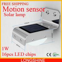 Wholesale Solar Power Motion Sensor Light Ray LED Detector Outdoor Security Light Wall Park lamp Garden solar LED lamp