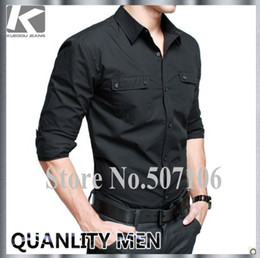 Wholesale and retail hot sell men s shirt brand new Men s long sleeve shirt good quality fashion shirt