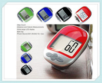 Wholesale 2016HOT new Multi function Step Pedometer Large LCD Display Pedometer Walking Calorie Distance Counter