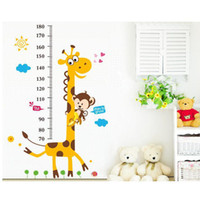 Wholesale S5Q Giraffe Monkey Removable Vinyl Wall Decal Stickers Kids Height Chart Measure AAADCY