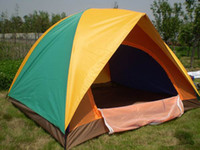 Wholesale 4 Men Outdoor Travel Camping Tents T Polyester Doors Coated Waterproof Casual Camping Travelling Tent Double Layer Sport Hiking Camp Te