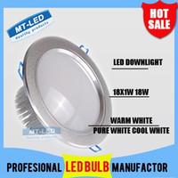 Wholesale DHL Dimmable Led downlight light W LM Recessed Down lighting V led bulb lamp spot Ceiling spotlight lights