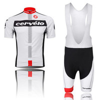 Wholesale cervelo Cycling Jersey Set White Short Jacket Bib Pants Men s Short Cycling Wear Cycling Jersey Sets
