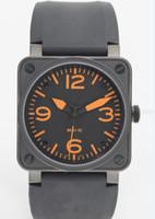 al por mayor cuadrados relojes automáticos de los hombres-Venta caliente Movimiento automático mecánico de lujo de goma Negro pulsera suizo plaza Marca Fecha inoxidable Reloj para hombre para los hombres Hombre Precios