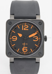 Wholesale Hot Sale Automatic Movement Luxury Mechanical Black Rubber Wristwatches Swiss Brand Square Date Stainless Mens Watch For Men Man Low Prices