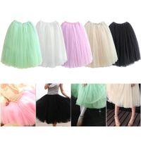 Wholesale S5Q Women Dress Soft Gauze Cute Bouffant Skirt Hot Princess Fairy Style Layers Tulle AAADCA