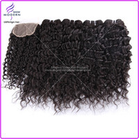 Wholesale Brazilian Virgin Hair Deep Curly Weave Pc Top Free Part Lace Closure With Hair Bundles Unprocessed Virgin Human Hair