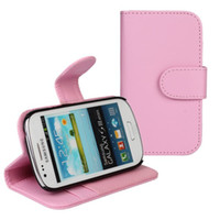 For Samsung galaxy S3 mini i8190 Leather Wholesale New arrived wallet Leather Case For galaxy S3 mini i8190 with credit card slot stand