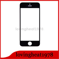 Wholesale Front Glass Lens Outer Touch Screen Cover For iPhone5 S C for iphone S C repair parts black white