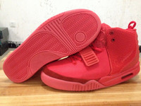 Wholesale 2014 New Top Fast Shipping Air Yezy Red October Kanye West New Lmited Edition Shoes Men s Basketball Shoes With Top Quality For Sale