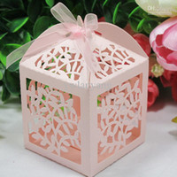 Favor Boxes Pink Paper Free shipping Laser cut box. Wedding favor box. Favors for your wedding party