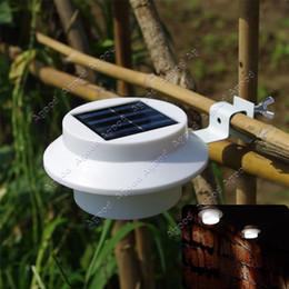 Wholesale Solar Power Panel LED Fence Gutter Light Outdoor Garden Wall Lobby Pathway Lamp white TK1397