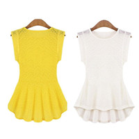 Wholesale S5Q Lace Frill Casual Party Tops Blouse Bottoming For Women Ladies AAADCL