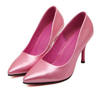 Women Pumps Stiletto Heel 2014 New pink silver glossy pumps sexy stiletto heel high heel wedding bridemaid shoes cheap beautiful shoes ePacket free shipping