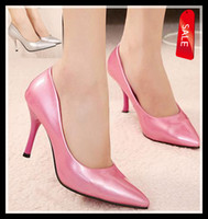 Women Pumps Stiletto Heel glossy pearl pink pumps sexy stiletto heel silver high heel wedding bridemaid dress shoes cheap beautiful shoes ePacket free shipping