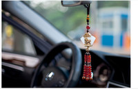 Wholesale Silver Natural Jade Car Pendant Car Hangings Accessories wire