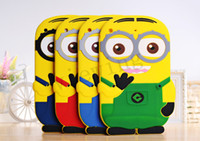 Wholesale 3D Minions Despicable ME Cover Soft Silicone Case Back Case Cover Protector For Apple iPad mini Ipad color