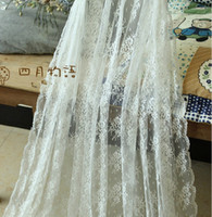Wholesale High Quality Lace Fabric suited Wedding Stage Decoration Shop Decoration Curtains Factory Supply