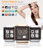 Wholesale 2014 Newest PW305 Bluetooth Smart Watch MTK6250 quot screem connecting with Android smart phone by Bluetooth galaxy gear