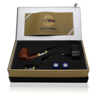 Wholesale Best selling New Arrival E pipe Health Smoking Pipe Electronic Cigarette Pipe Imitate Solid Wood Design With Best Top grade Package