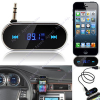 Wholesale 3 mm Black Car Wireless FM Transmitter For iPhone S C S iPod Samsung Galaxy S4 MP3 TK1417