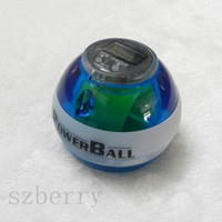 Wholesale 2014 The Newest PowerBall Gyroscope LED Wrist Strengthener Ball SPEED METER Power Grip Ball Power Ball