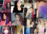 Temporary hair color - 100 sets Dye hair stick Color box Chalk Color Hair Temporary Hair Color Dye Pastel Chalk Bug Rub Soft Fencai Bar