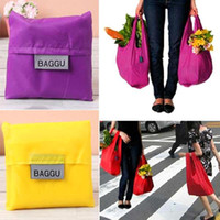 Wholesale Nylon Waterproof Foldable Reusable Eco Shopping Tote Storage Grocery Bags PA19 smileseller