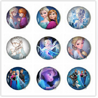 mix designs PVC badges frozen badges button pin brooch 4.5cm Anna Elsa princess Olaf costume cosplay boys girls toy fashion badges party gift 30pcs card mix design