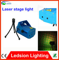 Wholesale 1pcs Home party Mini Laser Stage Lighting mW mini Green amp Red Laser DJ Party Stage Light Fan forced cooling system power