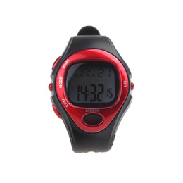 Wholesale Men Women Dress Watches Pulse Heart Rate Monitor Calorie Counter Fitness Sport Exercise Wrist Watch Blue Red Silver Wristwatches H10513