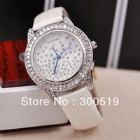 Women's Water Resistant Round JW515 Fashion Luxury Women Wristwatches Full Rhinestone Natural Shell Face Clocks Japan Movement Quartz Watches Relogio