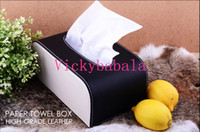 Wholesale Business classic black High Quality PU leather for VOLVO VOLVO S40 S60 S80L XC60 C30 BMW car tissue box car napkin box leave note