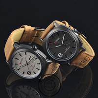 Wholesale HOT Sell CURREN ATM Waterproof Quartz Business Men s Watches Men s Military Watches Men s Leather Strap Sports Watches
