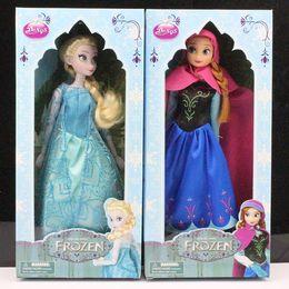 Retail Frozen Figure doll Play Set princess Elsa Anna Toys Frozen Toys Dolls in box