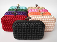 Wholesale Factory new listing women candy color Wove evening bag and clutches shoulder day Clutches With Chain XP73