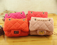 Wholesale 2014 New Korean Style Baby Girls Casual PU Leather Bags Girls Mini Designer Shoulder Bags Kids Diamond Quilt Purse Handbags Drop Shipping