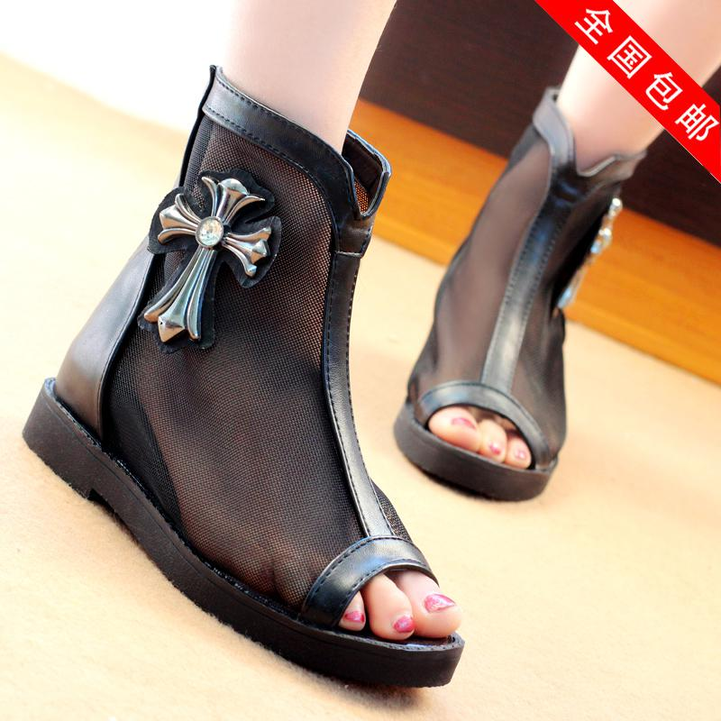Spring And Summer Women's Shoes Cool Boots Open Toe Ankle Boots ...