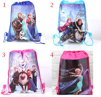 Retail 4 styles frozen drawstring bags Anna Elsa backpacks h...