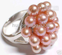 Wholesale Genuine South Sea Pink Unite Pearl Ring Size Box