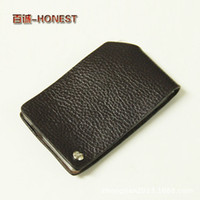 Wholesale Honest genuine first layer of leather Business card package BC customized gifts can add LOGO