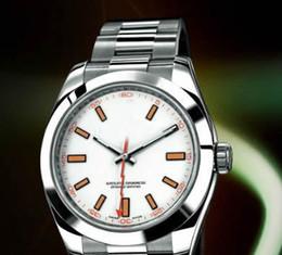 Wholesale Envío Gratuito White lujo al por mayor Caras Hombres de acero relojes de acero reloj mecánico automático Conocer hombres Vestido de pulsera Mejores Marcas