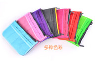 Wholesale 2014 Cosmetic Bags Double Zipper Thicken Silk Floss Storage Bags Insert Handbags Pouch Purse Travel Organizer Bags Colors MM23