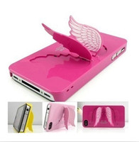 Wholesale SGP case cute angel wings phone cover for iphone s phone back case shell as holder stand free ship