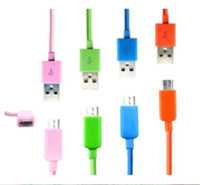 Universal   DHL low CHEAP Colorful 1M Micro USB Data Charging Cable for Samsung HTC Blackberry cell phone V8 V9 USB Cable