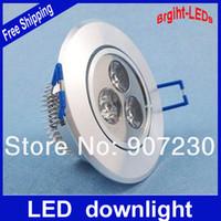 Auto strobe Blue EU 10PCS 3W 240lm LED downlight bathroom items +Dimmable Driver energy saving
